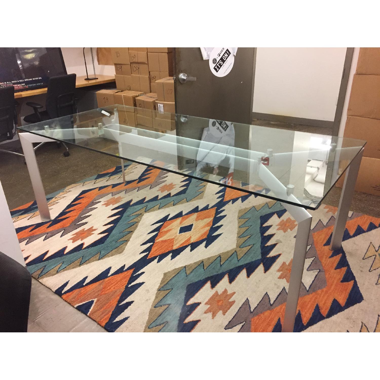 Glass Top Table w/ Metal Legs - image-5