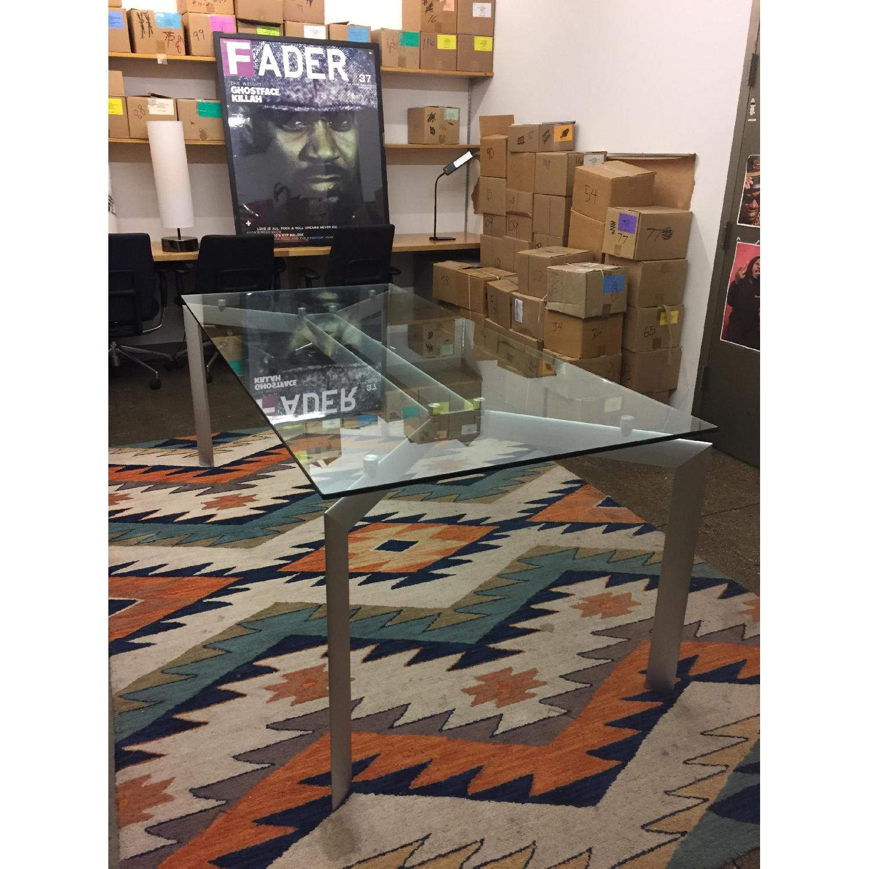 Glass Top Table w/ Metal Legs - image-1