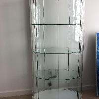 Glass Four Shelf Display Case