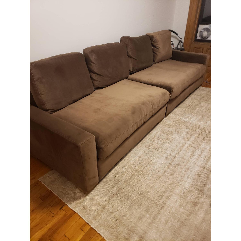 Restoration Hardware Maxwell 2-Piece Sofa in Mocha Velvet - image-1