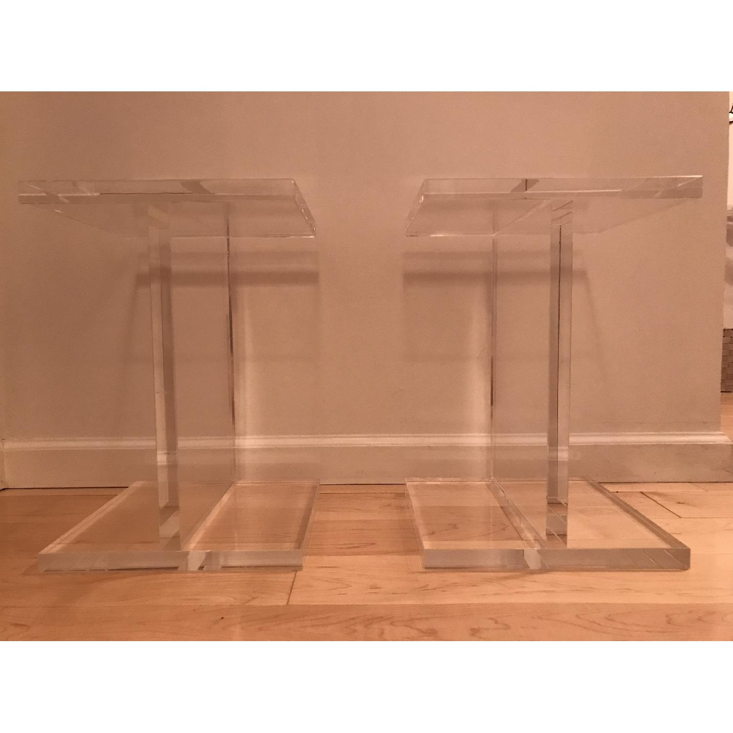 Chiasso Ice Acrylic Side Tables - image-2