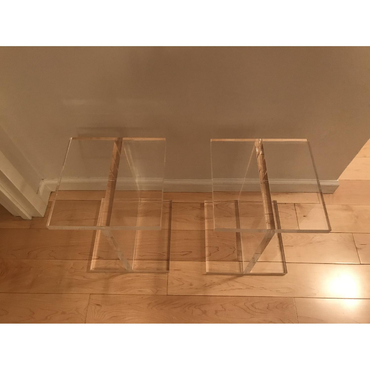 Chiasso Ice Acrylic Side Tables - image-6
