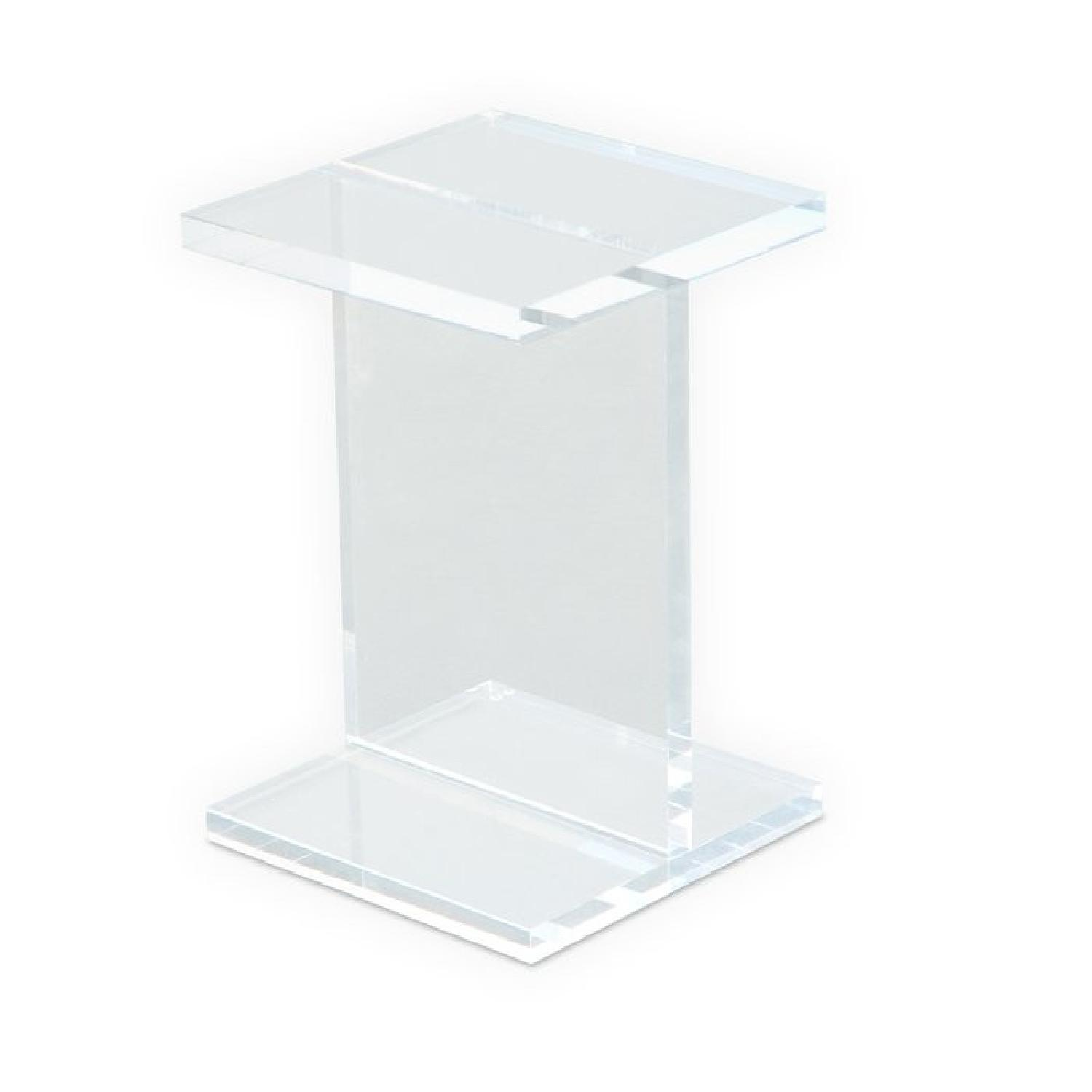 Chiasso Ice Acrylic Side Tables - image-0