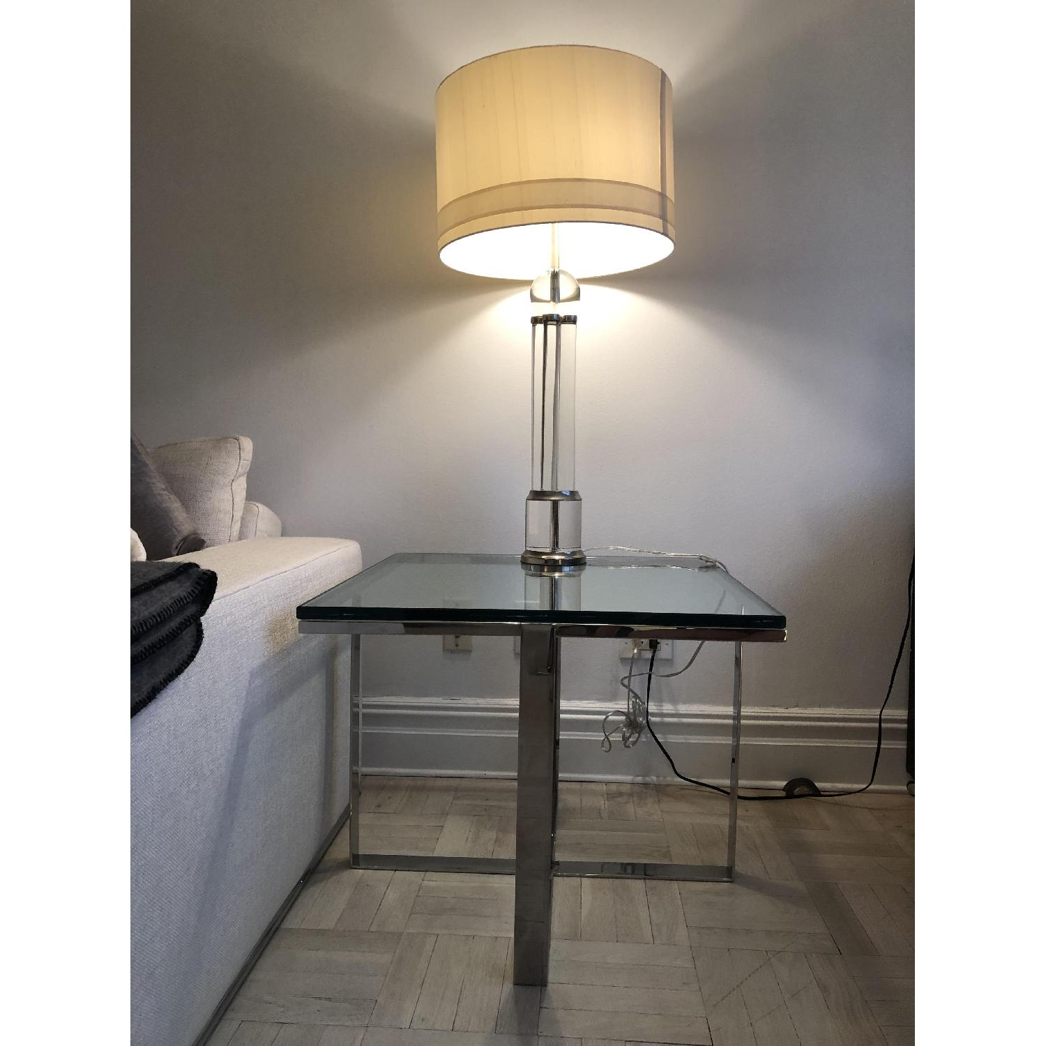 Artefacto Glass/Steel Side Table - image-1