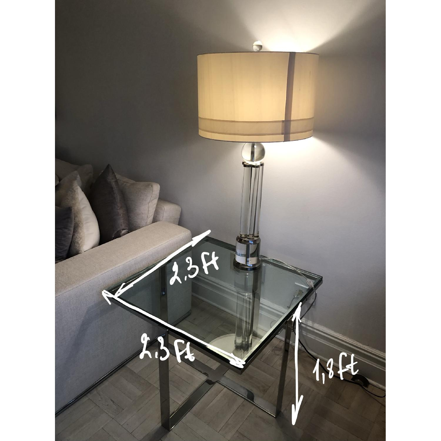 Artefacto Glass/Steel Side Table - image-3