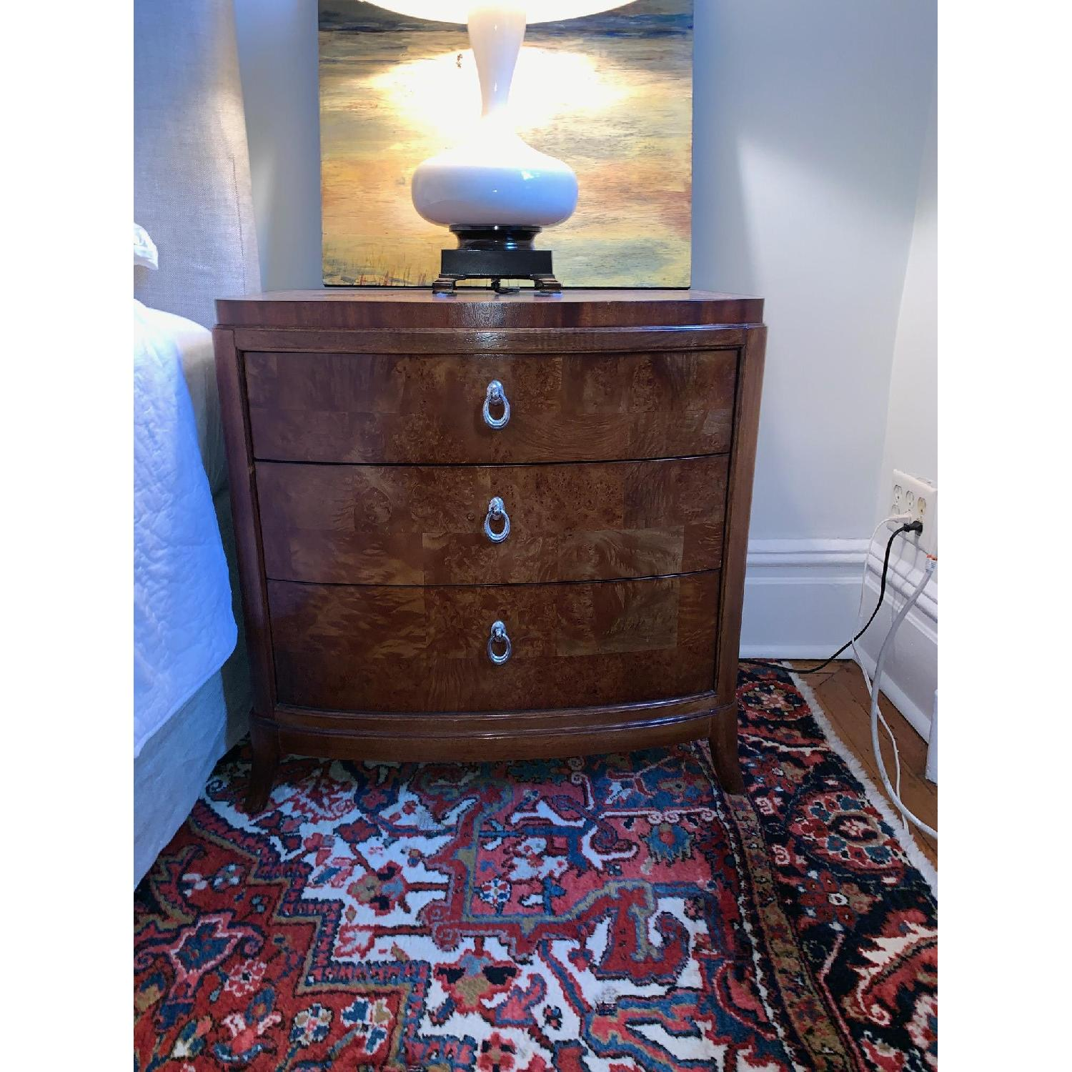 Thomasville Bogart Collection Burled Wood Nightstand - image-1