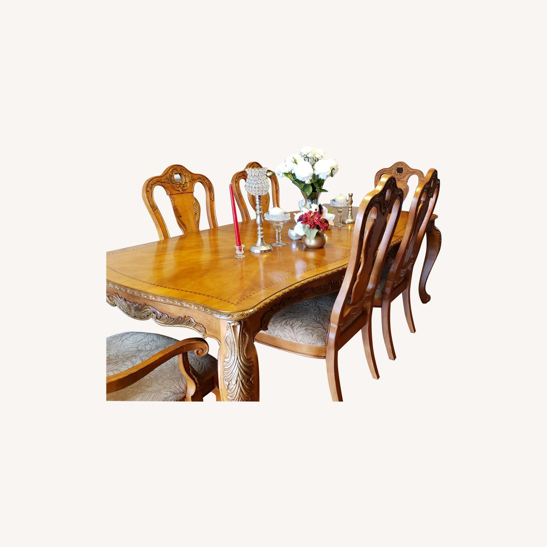 Raymour & Flanigan 7 Piece Dining Set - image-0
