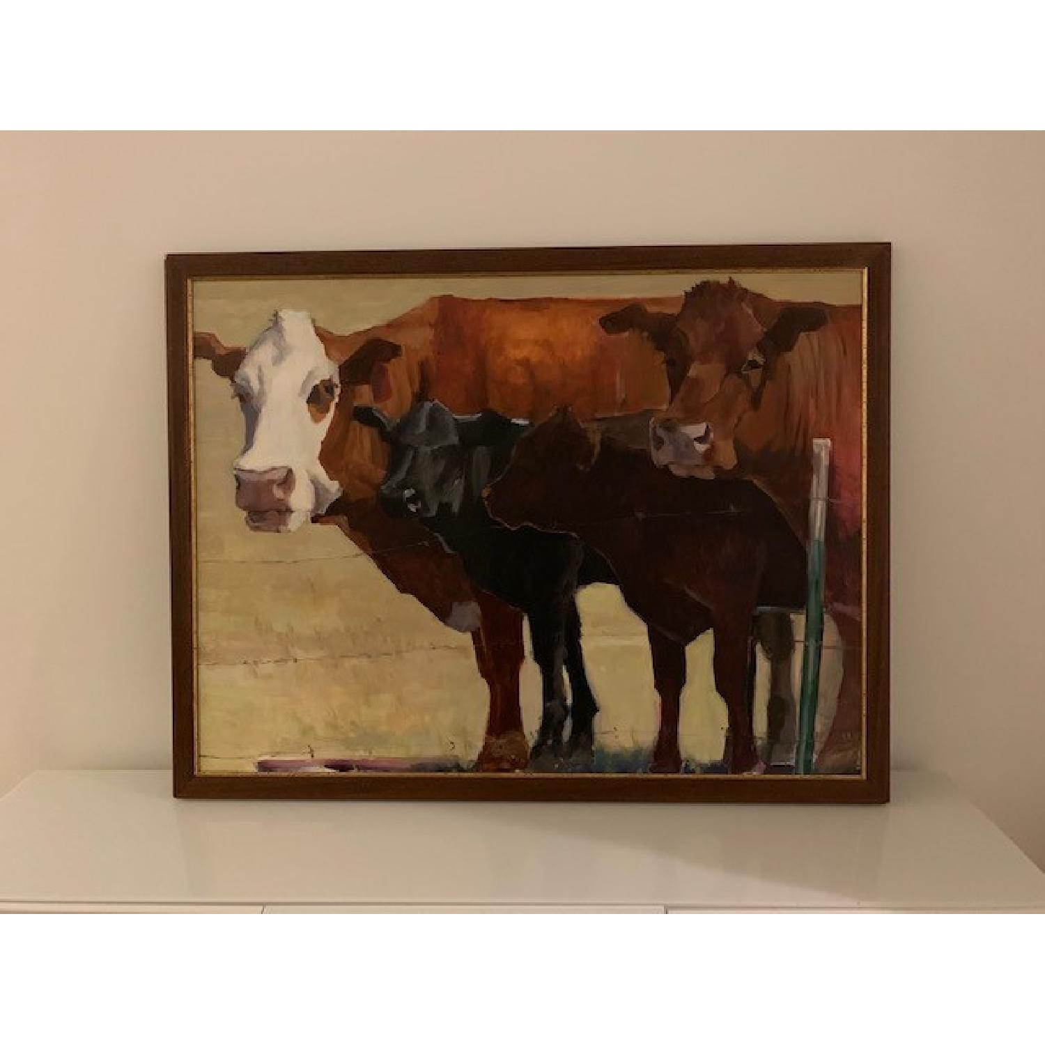Heather Foster Oil Painting - 285 Line Up - image-2