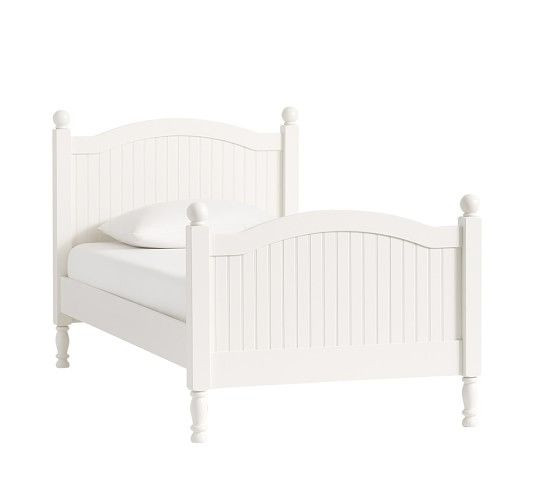 Pottery Barn White Solid Wood Childrens Bed