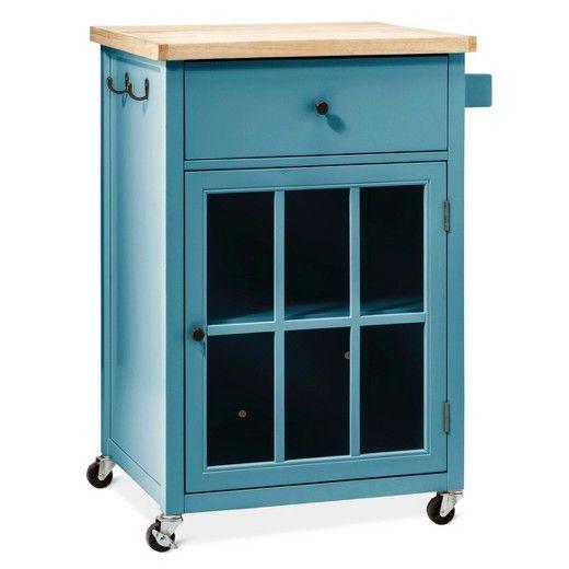 Target Teal Kitchen Cart