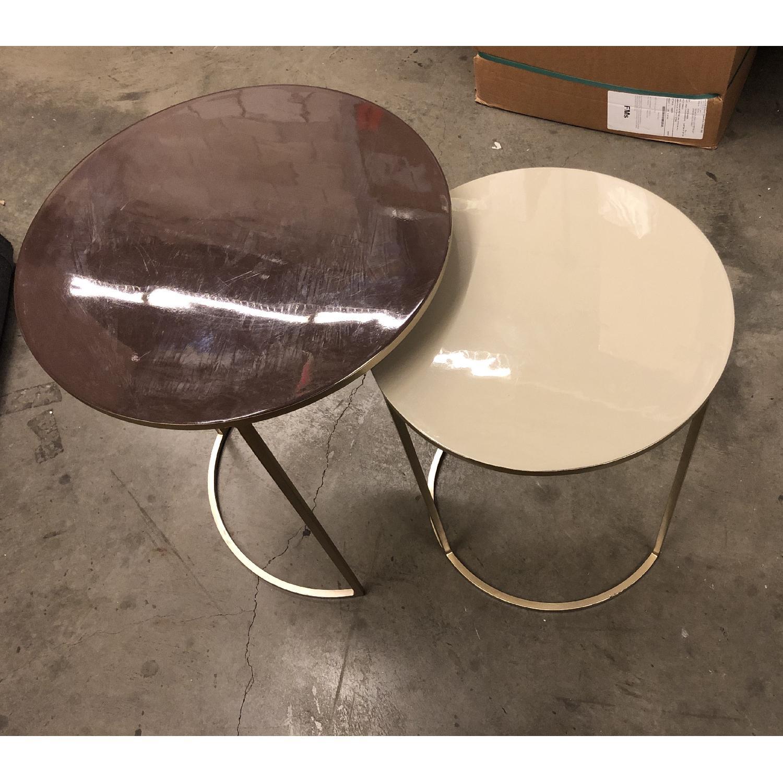 West Elm Enamel Round Nesting Side Tables - image-2