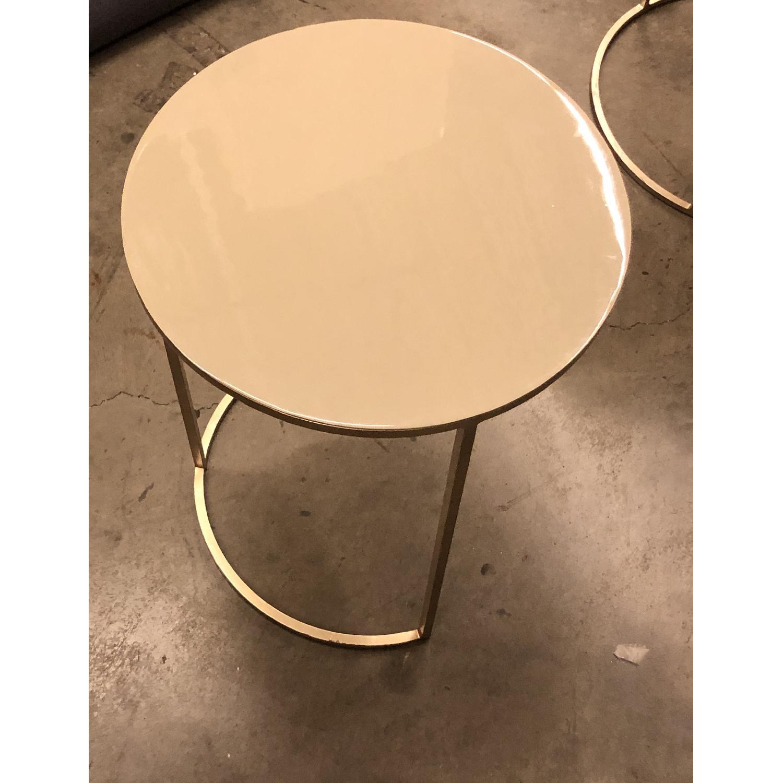 West Elm Enamel Round Nesting Side Tables - image-10