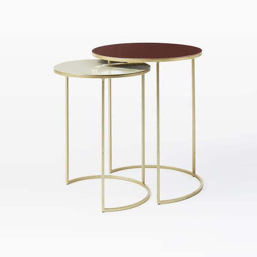 West Elm Enamel Round Nesting Side Tables