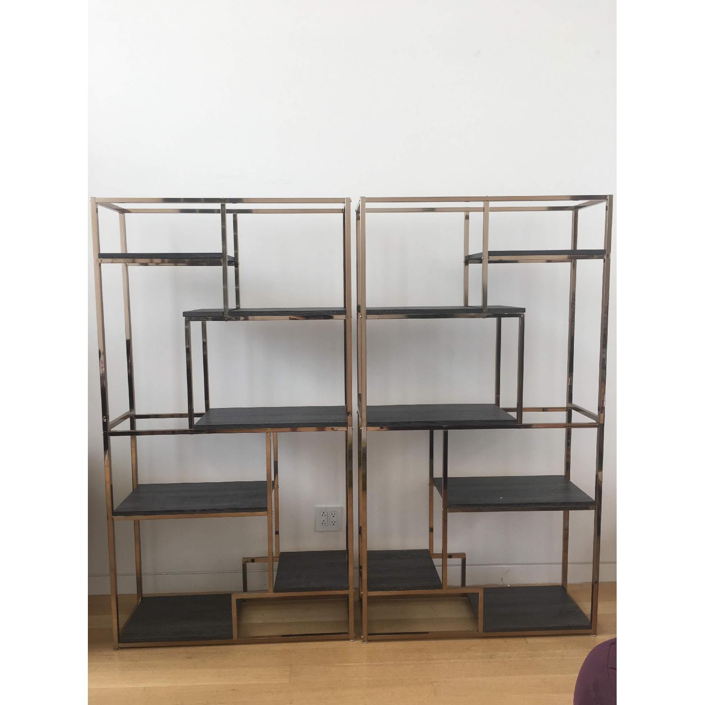 Furniture of America Contemporary 6 Shelf Bookcases - image-1