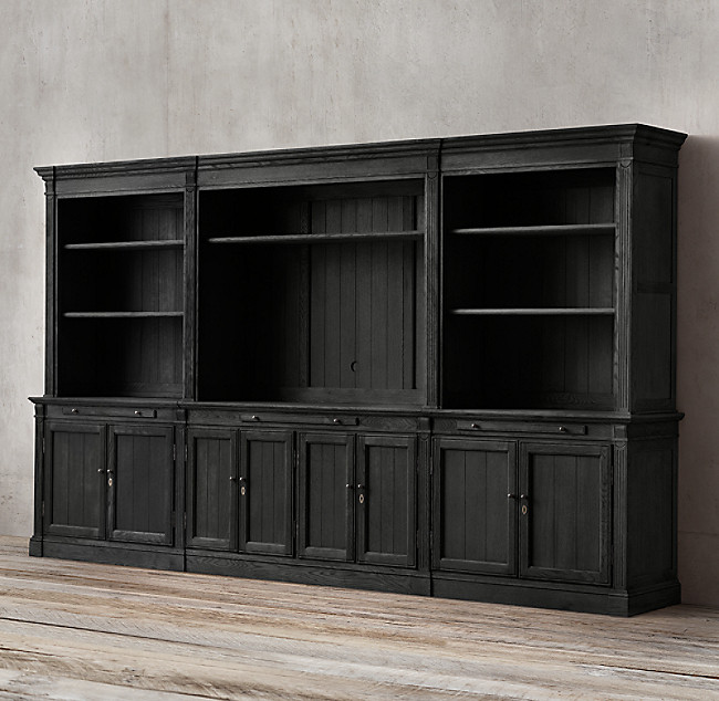 Restoration Hardware Large Media Library Wall Unit