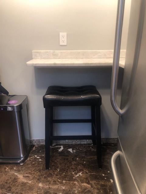 Black Faux Leather Bar Stools