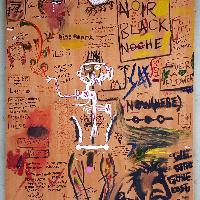 Basquiat-Like Painting/Graffiti - Up Till Dawn