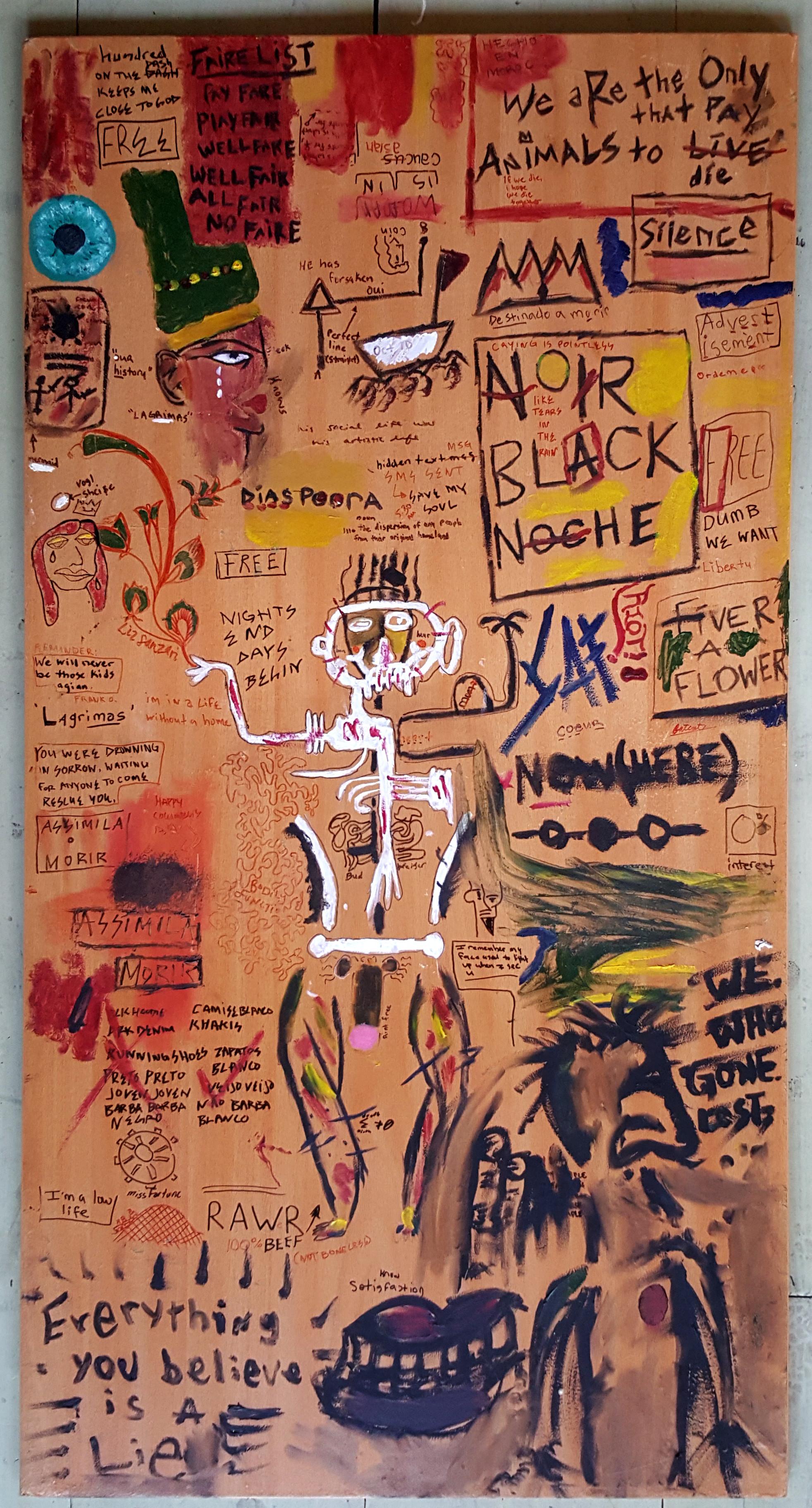 Basquiat-Like Painting/Graffiti - Up Till Dawn