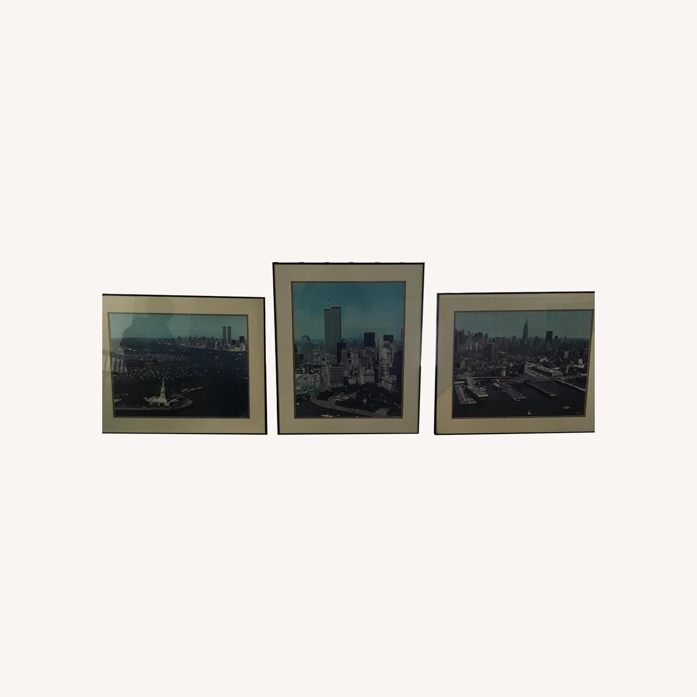 Pre 9/11 New York City Signed & Framed Original Photographs - image-0