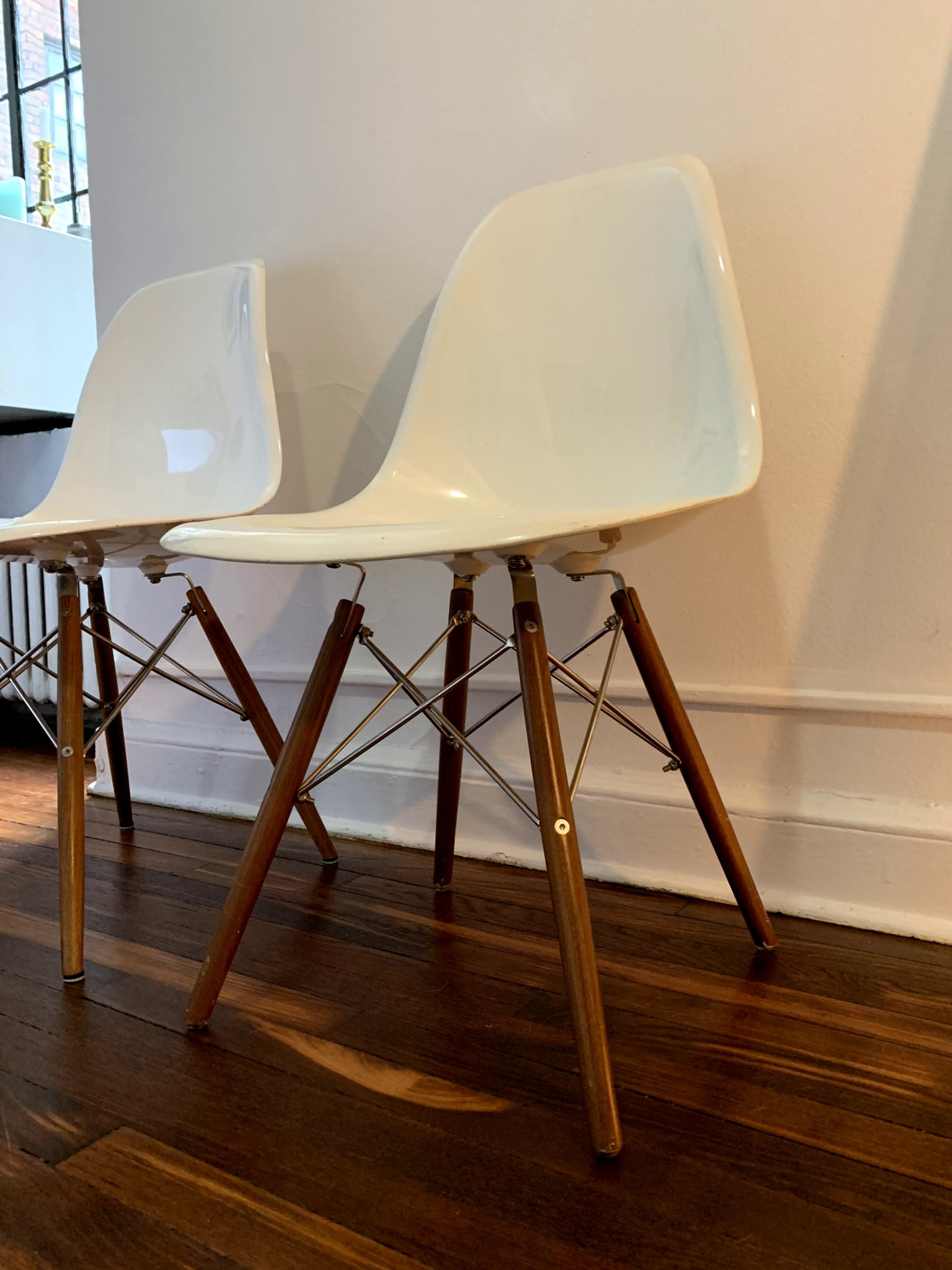 Organic Modernism Eames-Style Side Chairs
