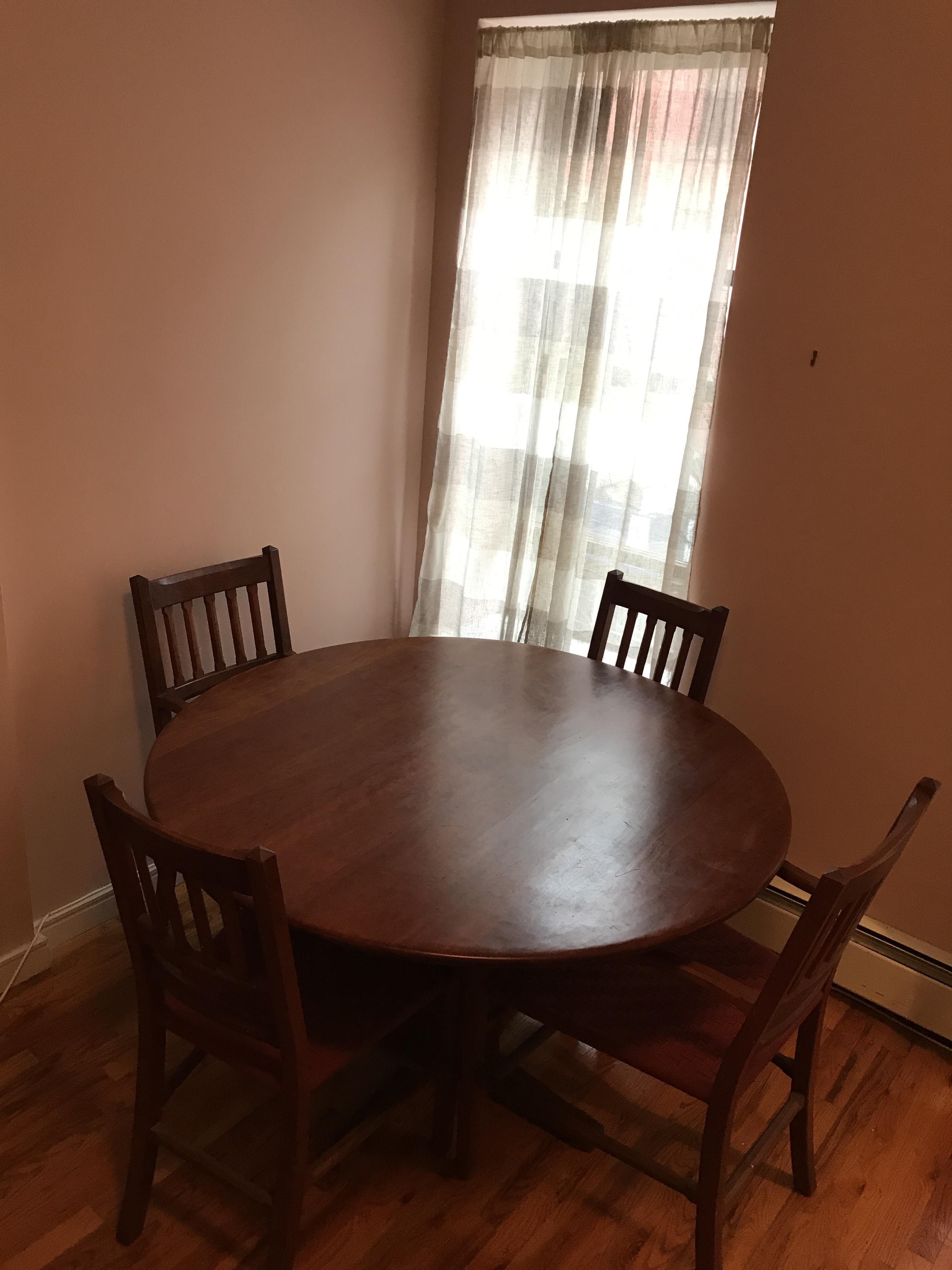 Arts & Craft Custom Table w/ 4 Chairs
