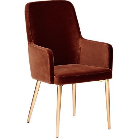 CB2 Aragon Velvet Sienna Chairs