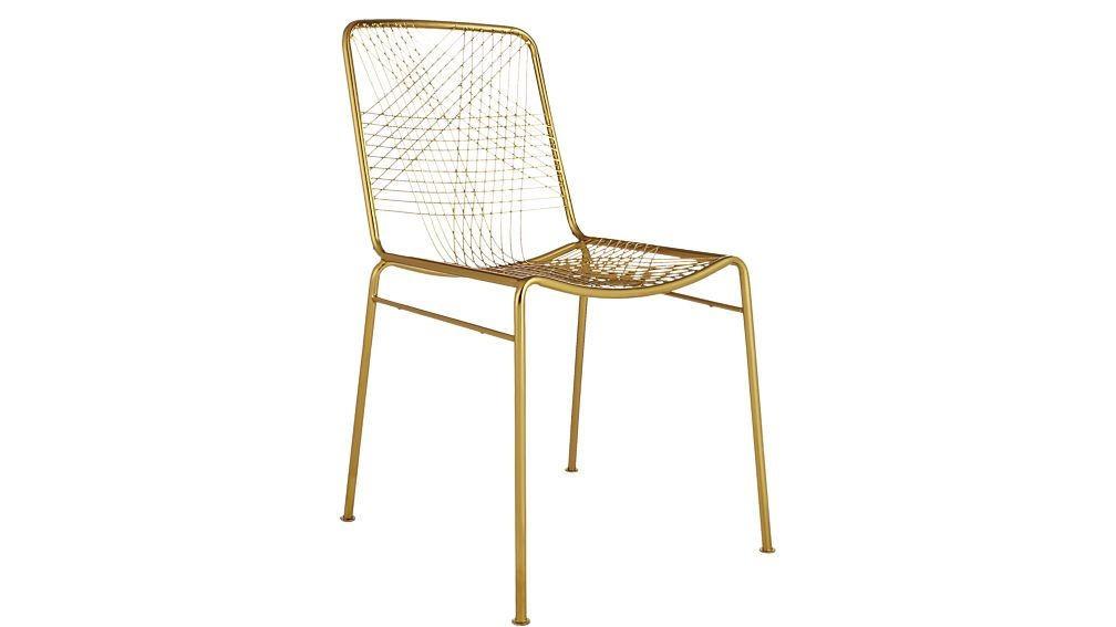 CB2 Alpha Brass Chairs