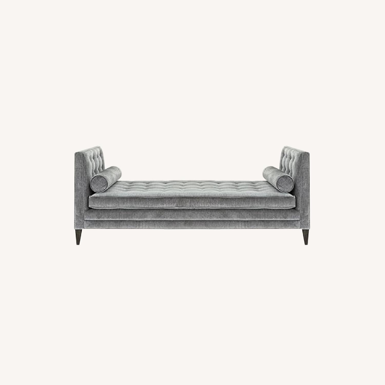 Arhaus Grey Velvet Daybed
