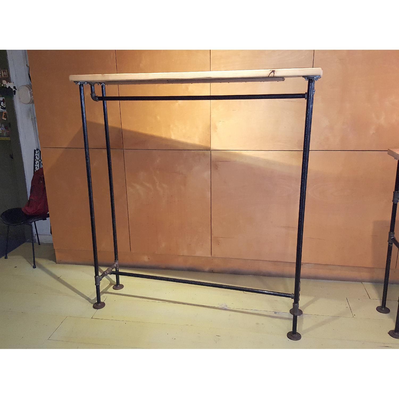 Rustic Steel Pipe Open Closet - image-0