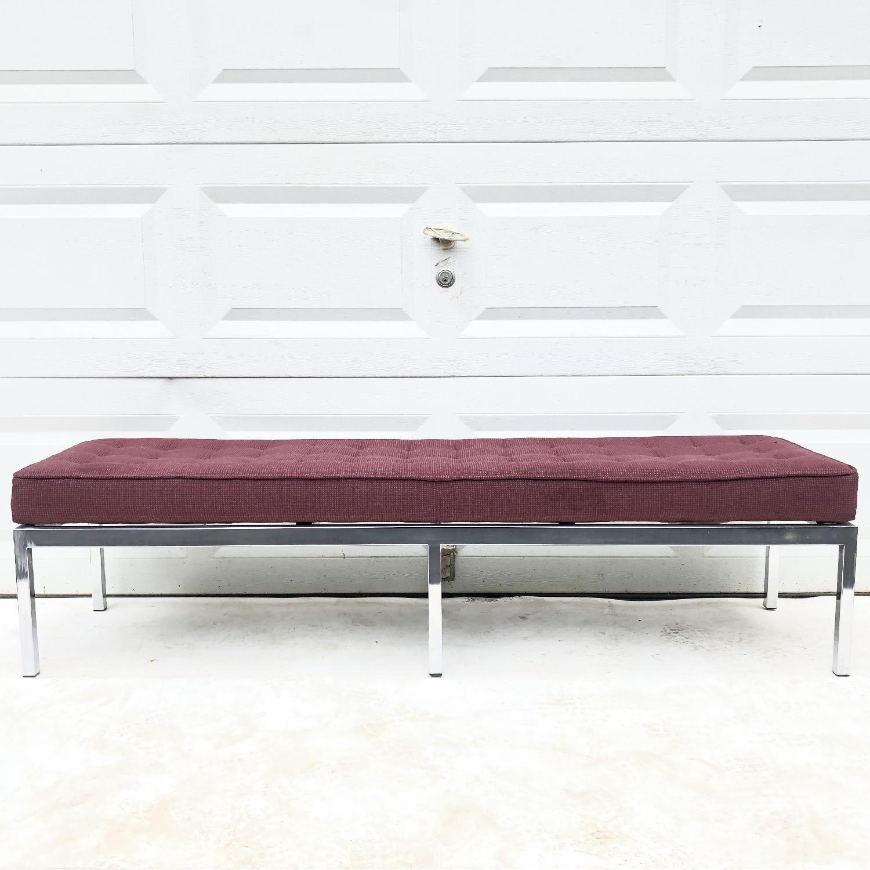 Mid-Century Knoll Style Three Seat Bench - image-3