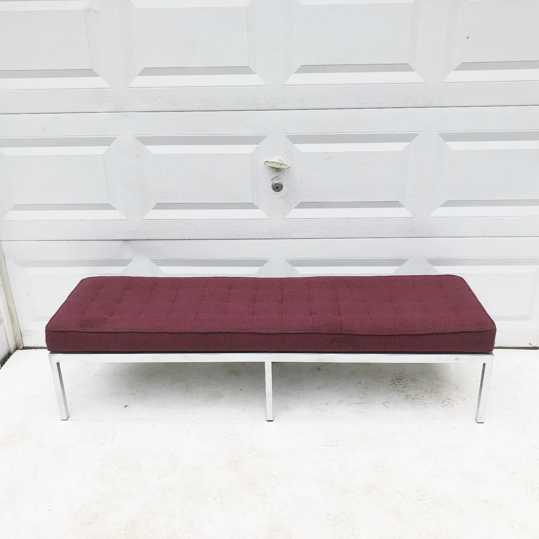 Mid-Century Knoll Style Three Seat Bench - image-4