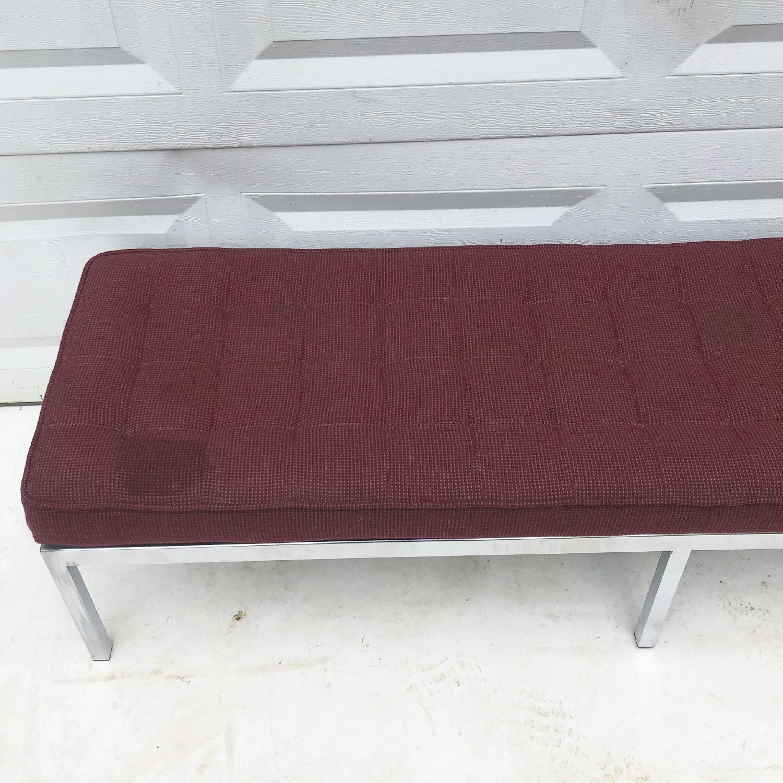 Mid-Century Knoll Style Three Seat Bench - image-7