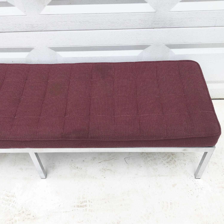 Mid-Century Knoll Style Three Seat Bench - image-8