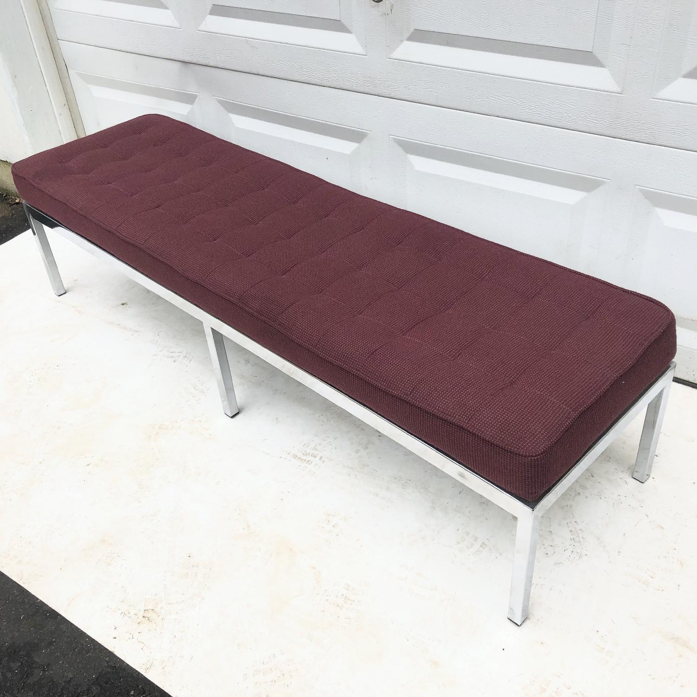 Mid-Century Knoll Style Three Seat Bench - image-9