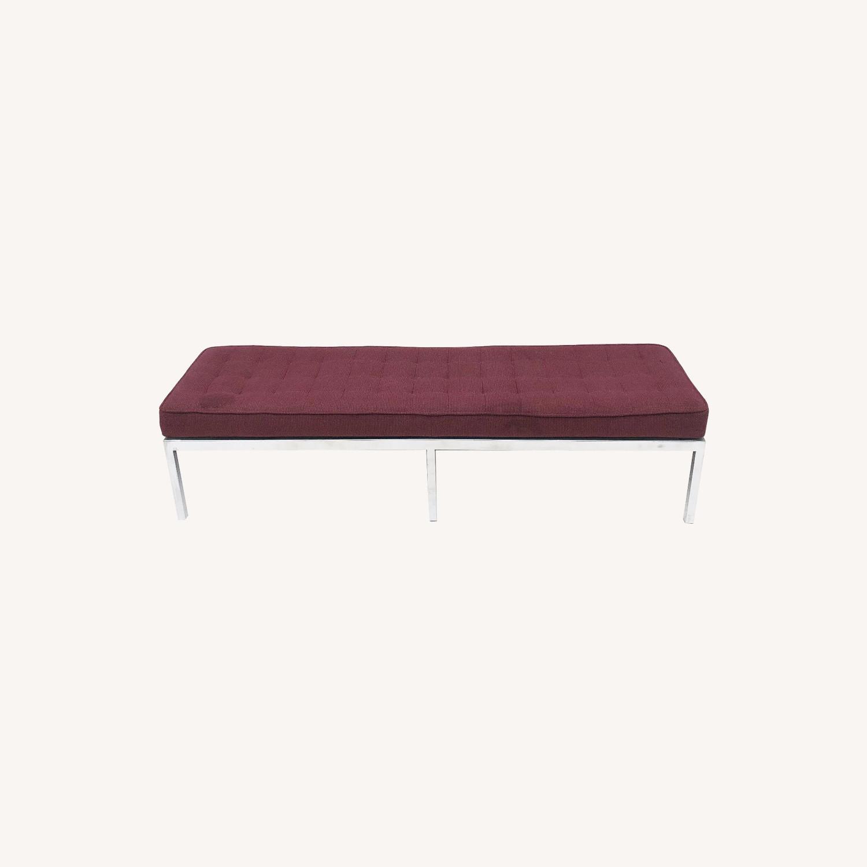 Mid-Century Knoll Style Three Seat Bench - image-0