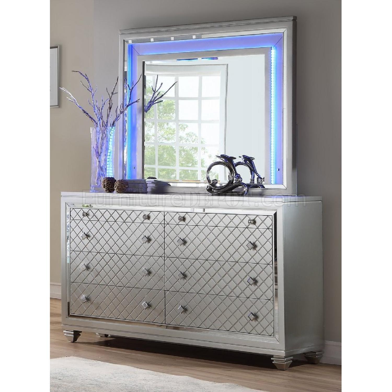 Silver Dresser w/ Mirror & Lights - image-1