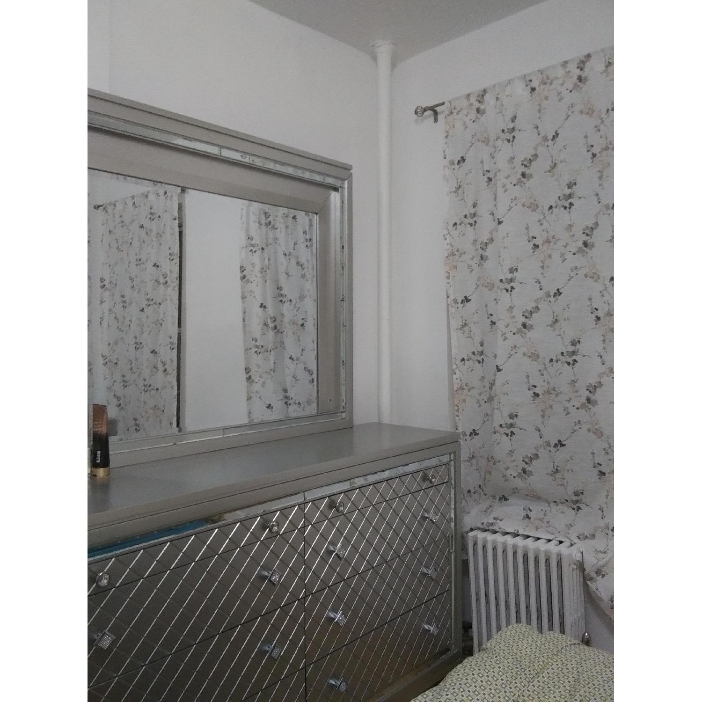 Silver Dresser w/ Mirror & Lights - image-2
