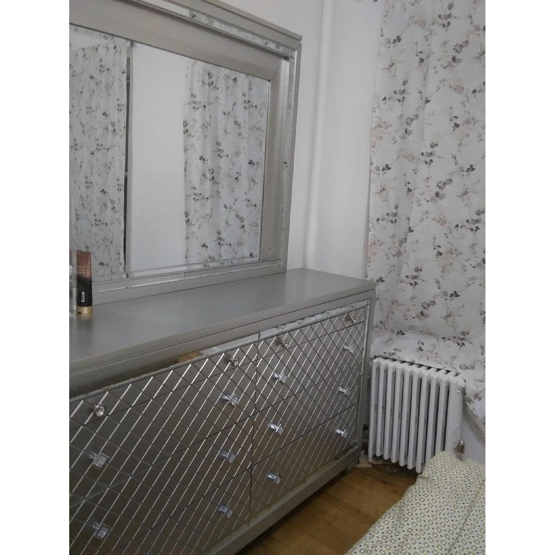 Silver Dresser w/ Mirror & Lights - image-3