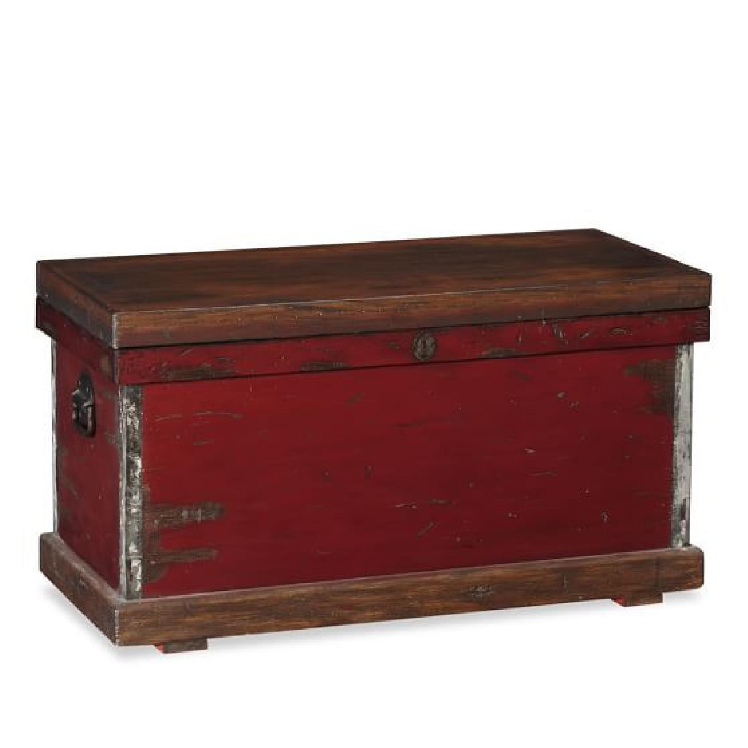 Pottery Barn Distressed Trunk - image-0