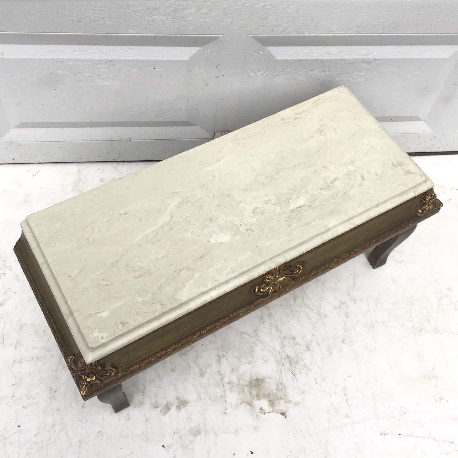 Vintage French Country Marble Top Table - image-3