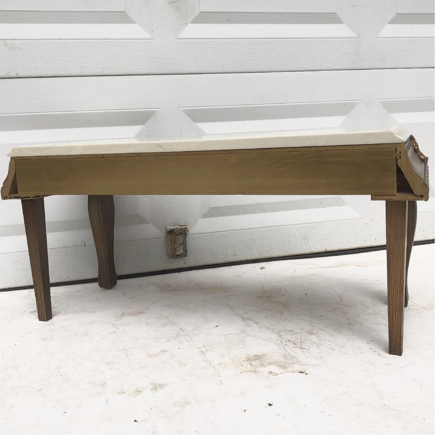 Vintage French Country Marble Top Table - image-6