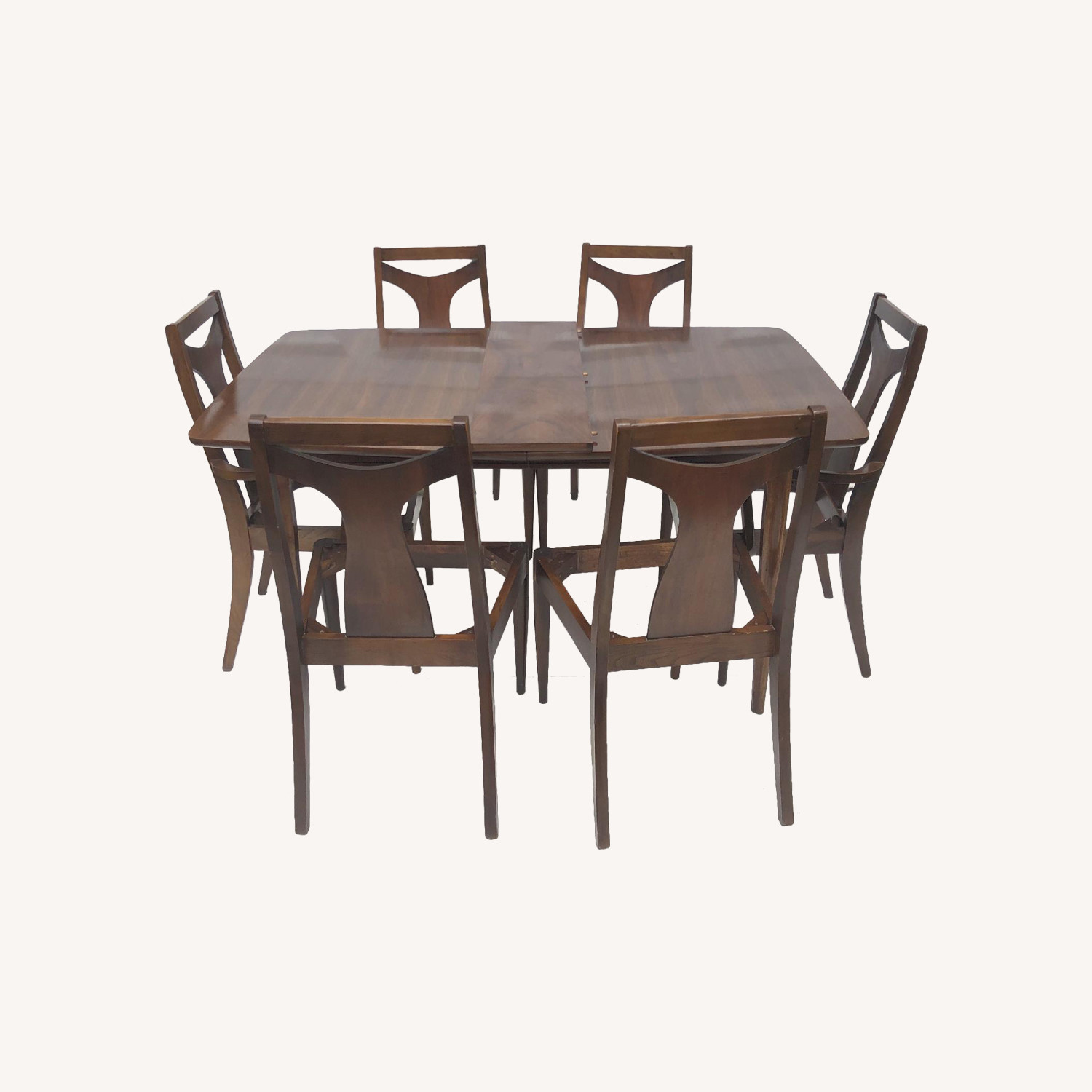 Mid-Century Modern Dining Table w/ 7 Chairs