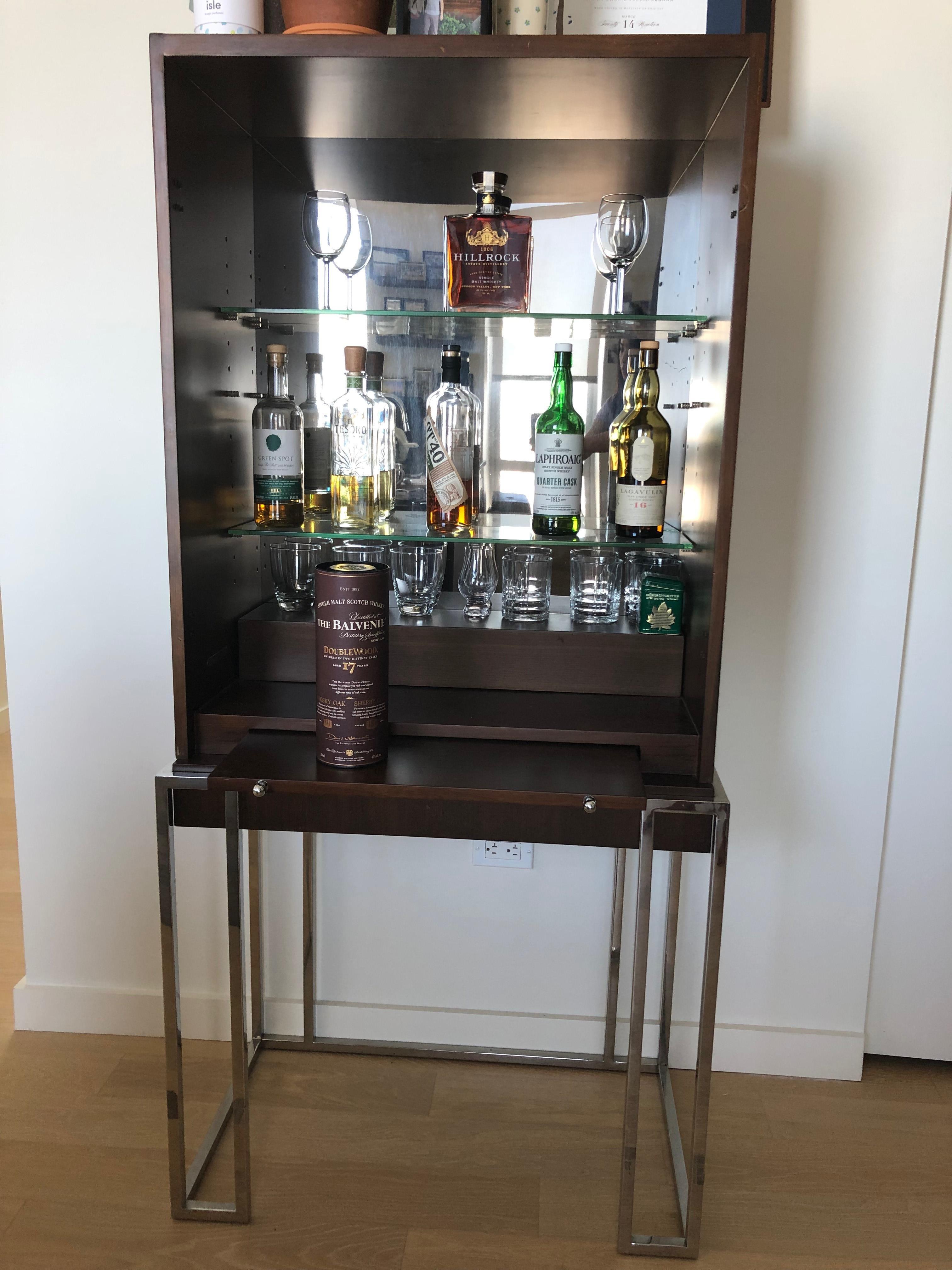 Mitchell Gold+Bob Williams Mid Century Modern Liquor Cabinet