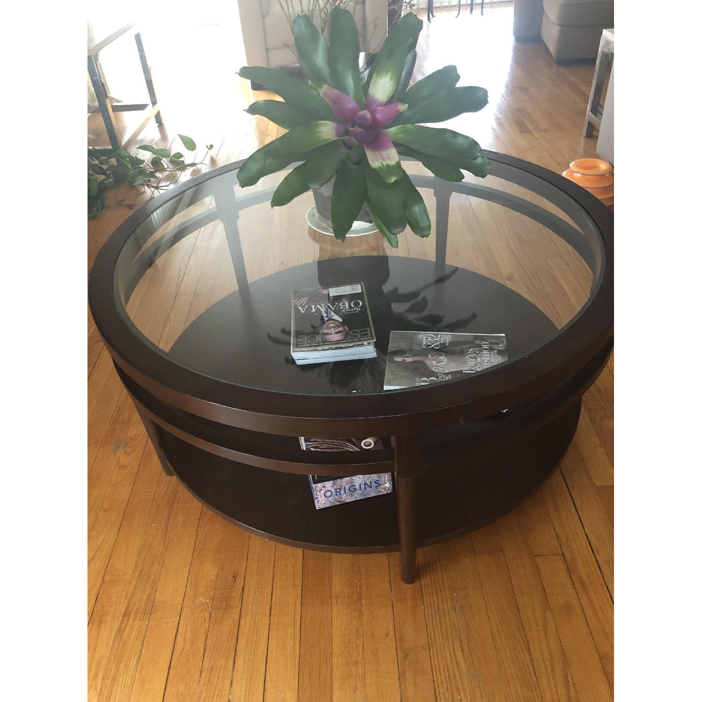 Safavieh Round Glass Top Coffee Table - image-2