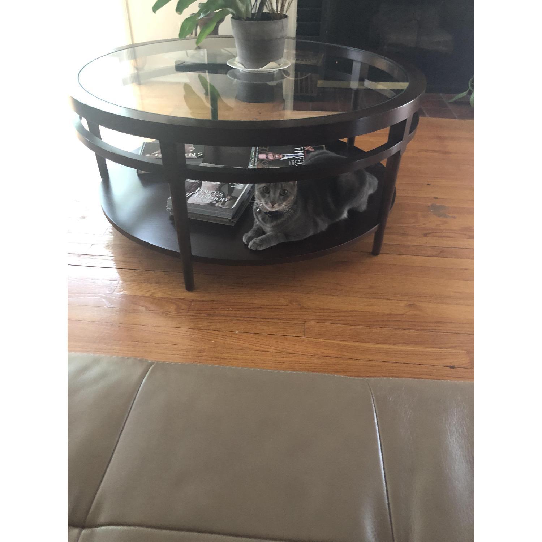 Safavieh Round Glass Top Coffee Table - image-3