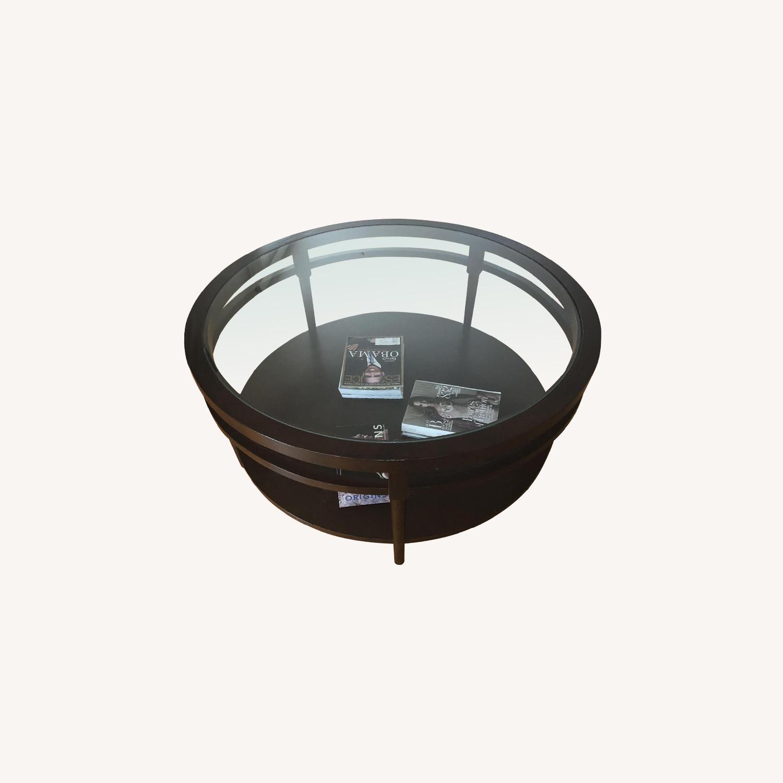 Safavieh Round Glass Top Coffee Table - image-0