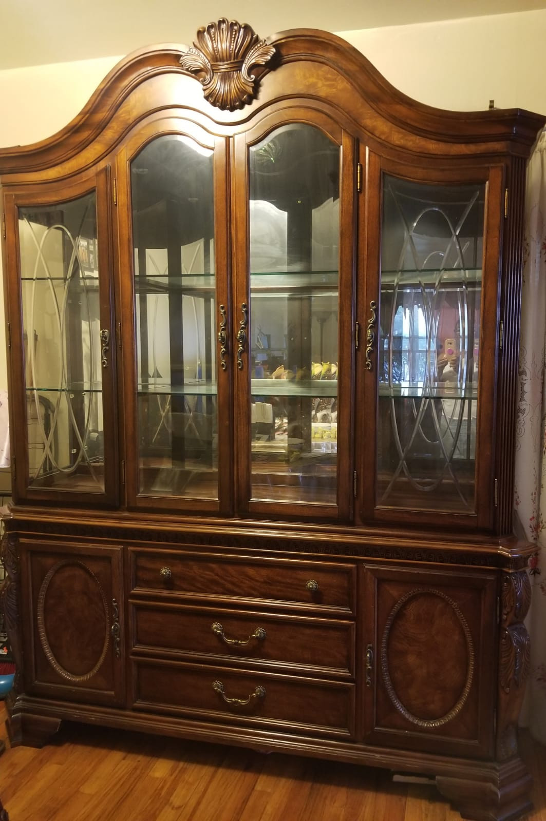 Wood & Glass Chinaware Cabinet