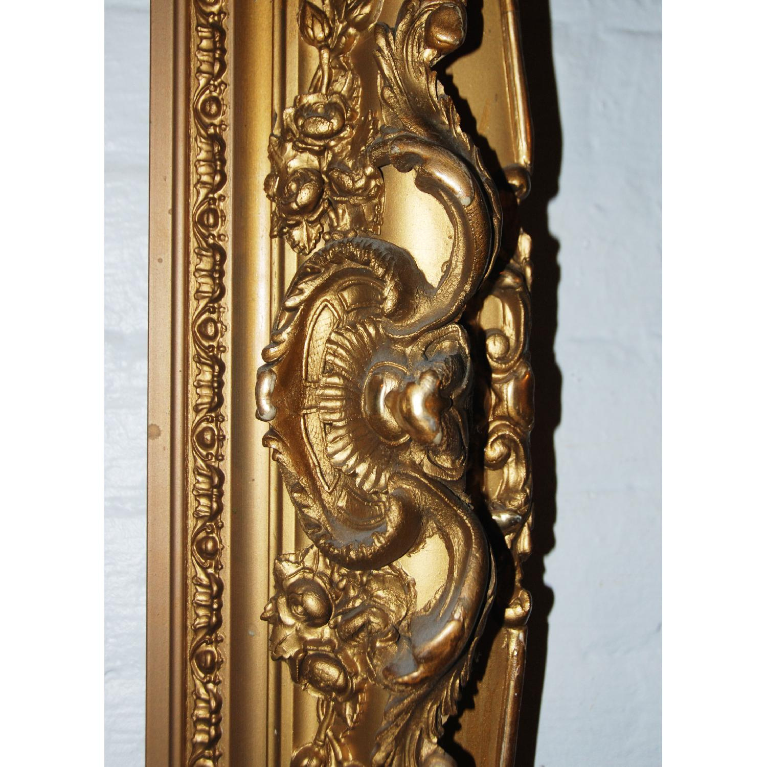 French Antique Louis XV Ornate  Carved Gilded Frame Mirror - image-2