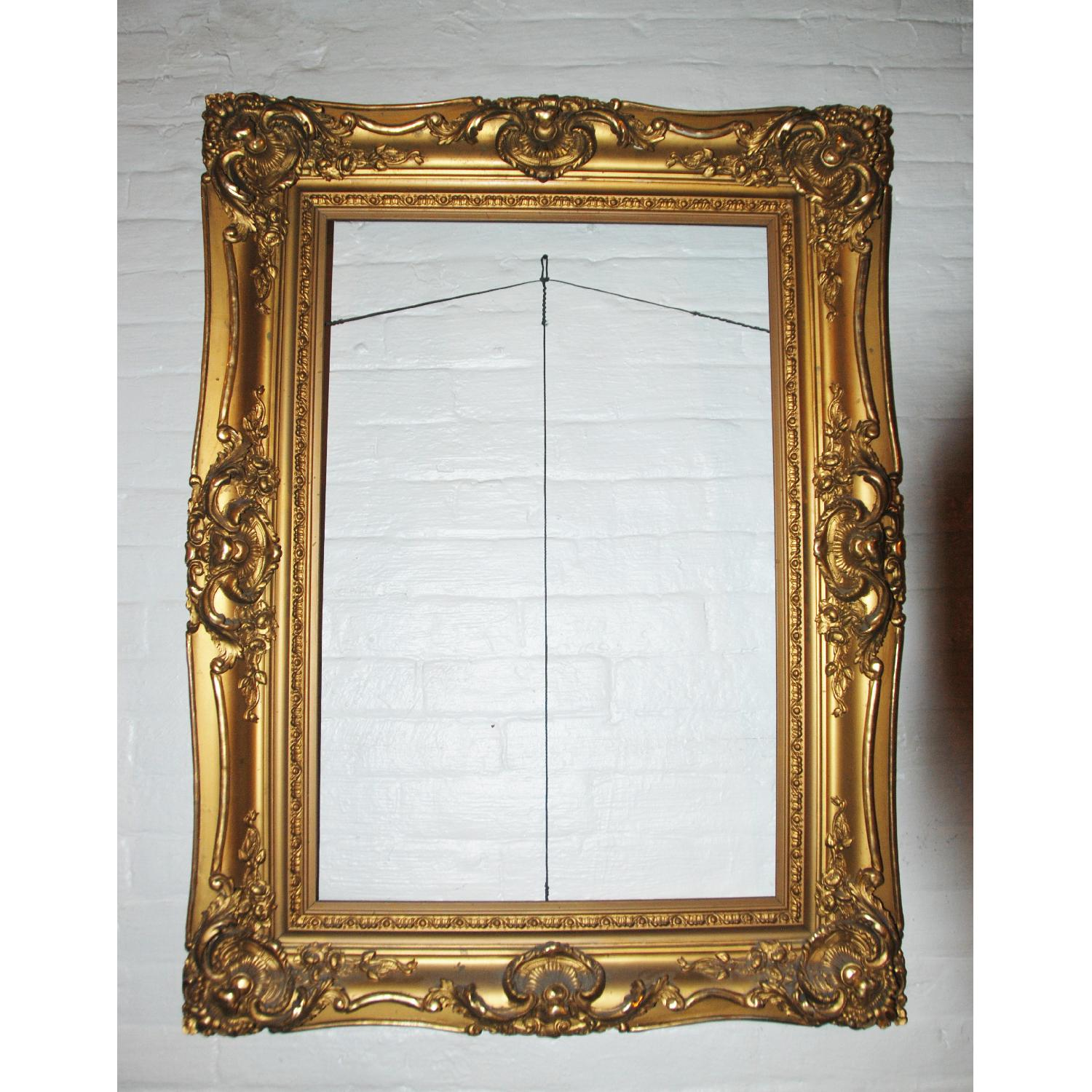 French Antique Louis XV Ornate  Carved Gilded Frame Mirror - image-3