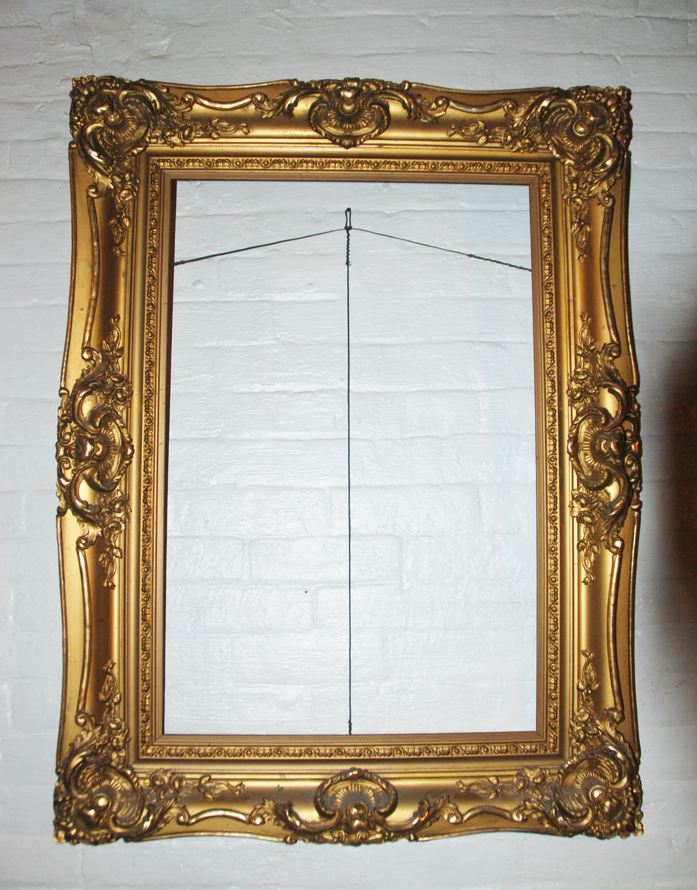 French Antique Louis XV Ornate  Carved Gilded Frame Mirror